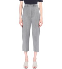 Whistles Pinstripe Woven Trousers Grey
