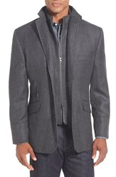 Men's Big And Tall Kroon 'Ritchie' 3 In 1 Blazer Grey