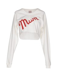 People Topwear Sweatshirts Women White