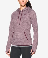 Under Armour Storm Heathered Fleece Hoodie Maroon