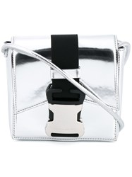 Christopher Kane Safety Buckle Crossbody Bag Metallic
