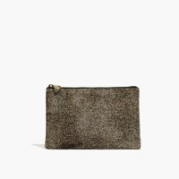 Madewell The Pouch Clutch In Spotted Calf Hair Espresso Bean