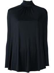 Valentino Funnel Neck Blouse Black