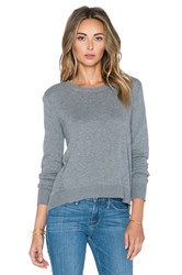 Atm Anthony Thomas Melillo Cashmere Hi Lo Crew Neck Sweater Gray