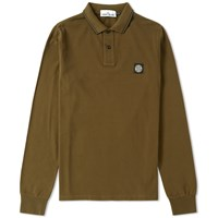 Stone Island Long Sleeve Slim Fit Polo Green