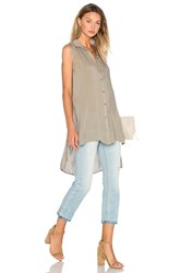 Bella Dahl High Low Tunic Olive
