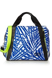 Monreal London Curacao Printed Leather Trimmed Canvas Shoulder Bag
