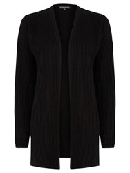 Warehouse Cable Effect Stitch Cardigan Black