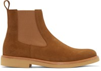 A.P.C. Brown Suede Chelsea Boots