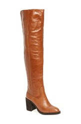 Jeffrey Campbell Women's 'Raylan' Over The Knee Boot Tan Leather