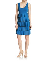 Spense Tiered Shift Dress Cerulean