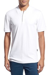Ag Jeans Men's Ag Green Label 'Forged' Pima Cotton Polo Bright White