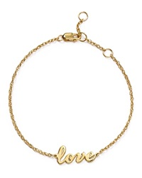 Jennifer Zeuner Jewelry Jennifer Zeuner Addison Cursive Love Bracelet Gold