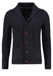 Jack And Jones Jjvjohn Cardigan Total Eclipse Dark Blue