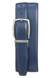 Torino Belts Men's Big And Tall Reversible Leather Belt Navy Grey