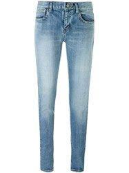 Saint Laurent Skinny Fit Jeans Blue