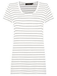 Andrea Marques Striped T Shirt White