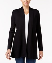 Charter Club Ribbed Cardigan Only At Macy's Deep Black