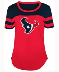 5Th And Ocean Women's Houston Texans Limited Edition Rhinestone T Shirt Red