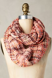 Anthropologie Fretwork Infinity Scarf Pink