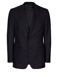 Aquascutum London Herringbone Twill Jacket Navy