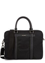 Dolce And Gabbana Black Leather Trimmed Nylon Briefcase