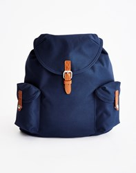 The Idle Man Vintage Rucksack Navy