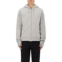 Hood By Air Men's Crew Cotton Zip Front Hoodie Grey