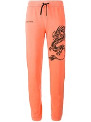 Filles A Papa 'Andrew' Dragon Embellished Trousers Yellow And Orange