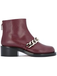 Givenchy Chain Detail Ankle Boots Red