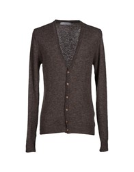 Grey Daniele Alessandrini Knitwear Cardigans Men Dark Brown