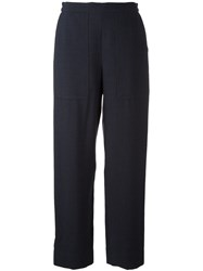 Christophe Lemaire Tapered Trousers Blue