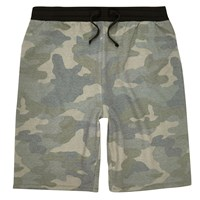 River Island Mens Green Camo Jogger Shorts