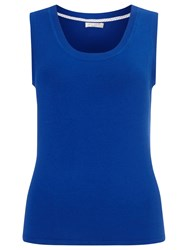 Precis Petite By Jeff Banks Knitted Vest Top Bright Blue