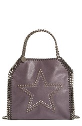 Stella Mccartney 'Mini Falabella' Studded Faux Leather Star Tote Black Bark