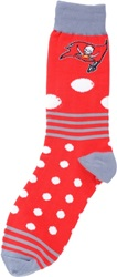 For Bare Feet Tampa Bay Buccaneers Dots And Stripes 538 Socks Red