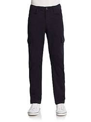 J Brand Trooper Slim Poplin Cargo Pants Midnight