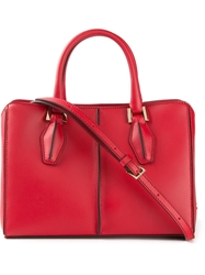 Tod's Small 'D Cube' Shopping Bag Red