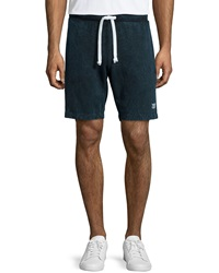 Sol Angeles Solid Jersey Knit Sweat Shorts Navy