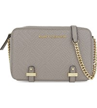 Kurt Geiger London Abbey Woven Leather Cross Body Bag Taupe