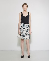 Raquel Allegra Printed Skirt Natural Floral