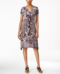 Styleandco. Style Co. Petite Printed Cap Sleeve Swing Dress Only At Macy's Unexpected