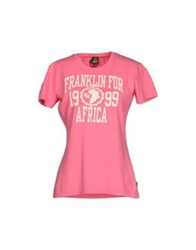 Franklin And Marshall T Shirts Pink