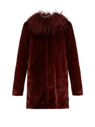 Shrimps Fifi Faux Fur Coat Burgundy