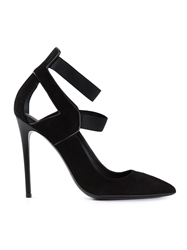 Gianmarco Lorenzi Cut Out Detail Pumps Black
