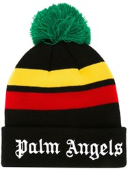 Palm Angels Embroidered Logo Beanie Black