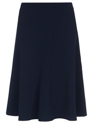 Kaliko Textured Detail Flared Skirt Navy