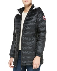 Canada Goose Camp Hooded Mid Length Puffer Coat Black