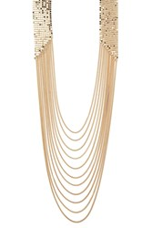 Forever 21 Flat Dot Chain Layered Necklace