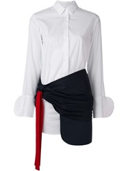 Jacquemus Front Bow Layer Shirt Dress White